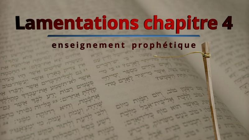 Lamentations de Jérémie chapitre 4