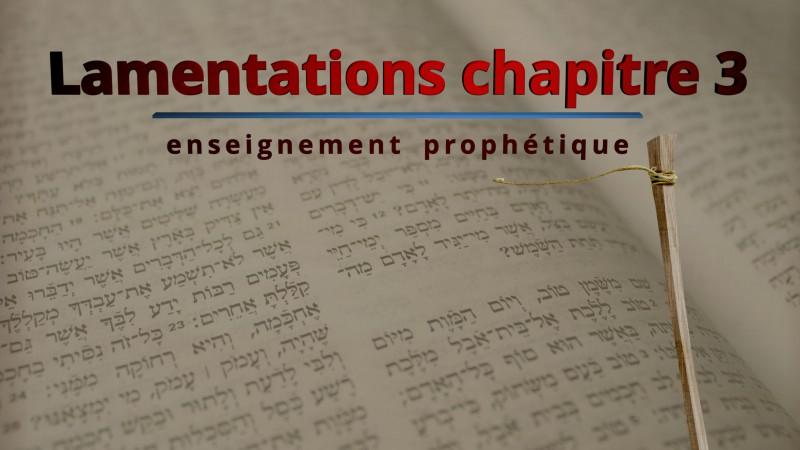 Lamentations de Jérémie chapitre 3
